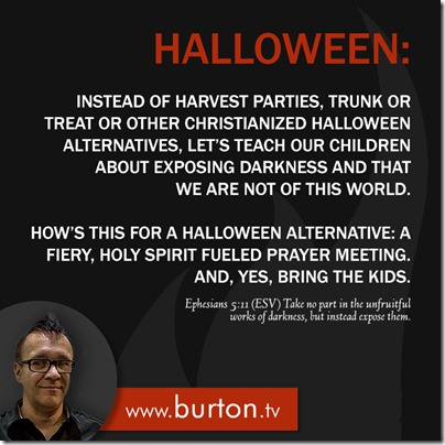 John Burton Quote Halloween Prayer